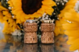 Photography of wedding rings at Gordleton Mill