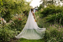 Bridal portraits at Gordleton Mill wedding