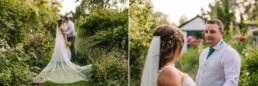 Golden hour portraits at Gordleton Mill wedding