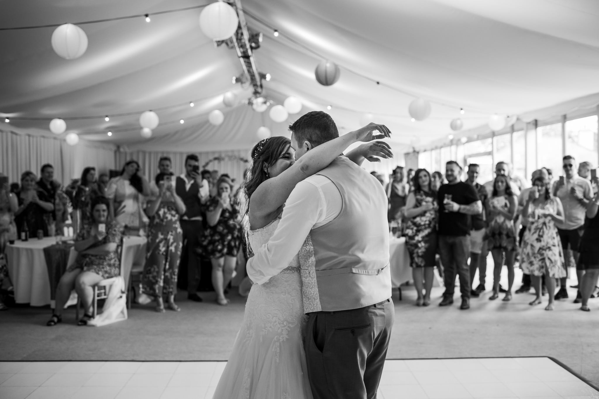 Photography of first dance at Gordleton Mill in Lymington