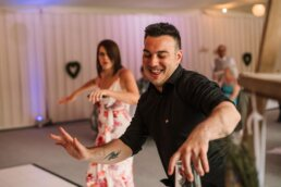 Wedding dancing at Gordleton Mill