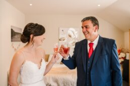 Dad and daughter at Parley Manor Wedding
