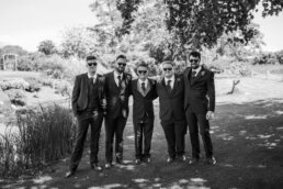 Men at Parley Manor Wedding
