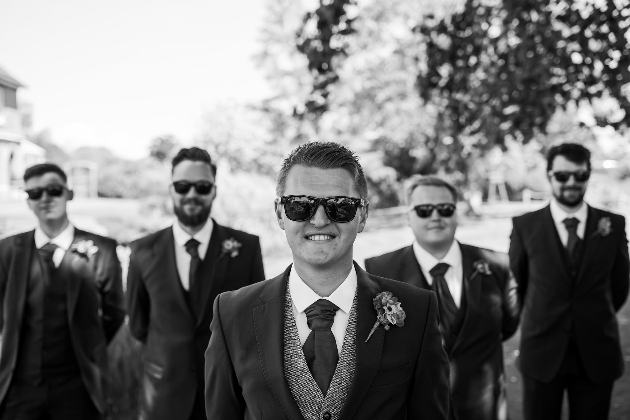Groomsmen at Parley Manor Wedding
