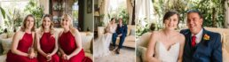Photos before the ceremony at Parley Manor Wedding
