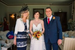 Photography of family at Parley Manor Wedding