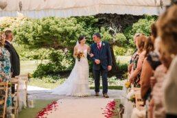 Aisle at Parley Manor Wedding