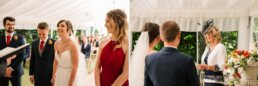 Ceremony at Parley Manor Wedding