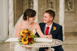 Signing Register at Parley Manor Wedding