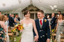 White confetti at Parley Manor Wedding