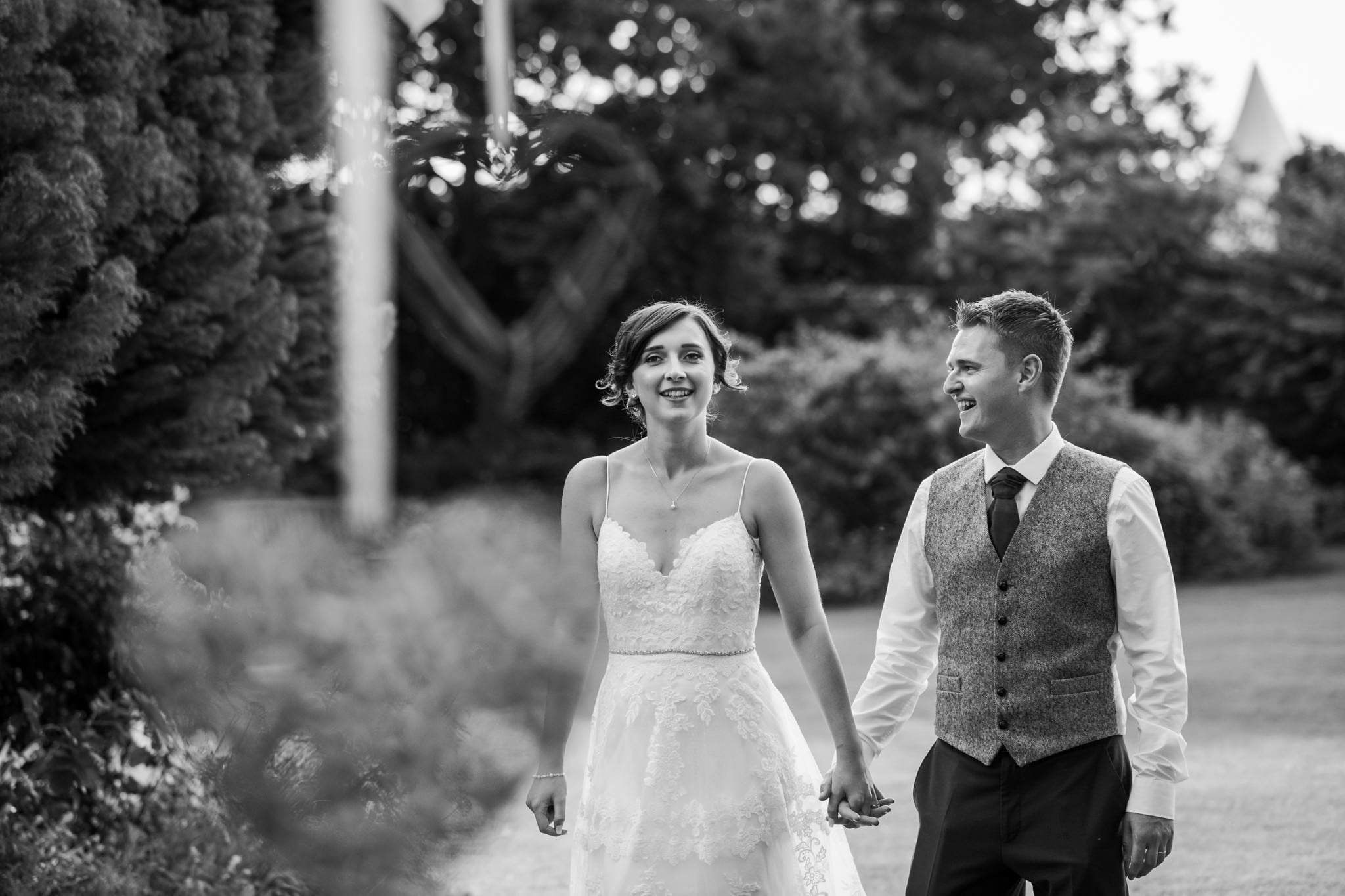 Couple at Parley Manor Wedding