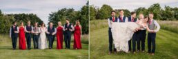 Group photos at Parley Manor Wedding