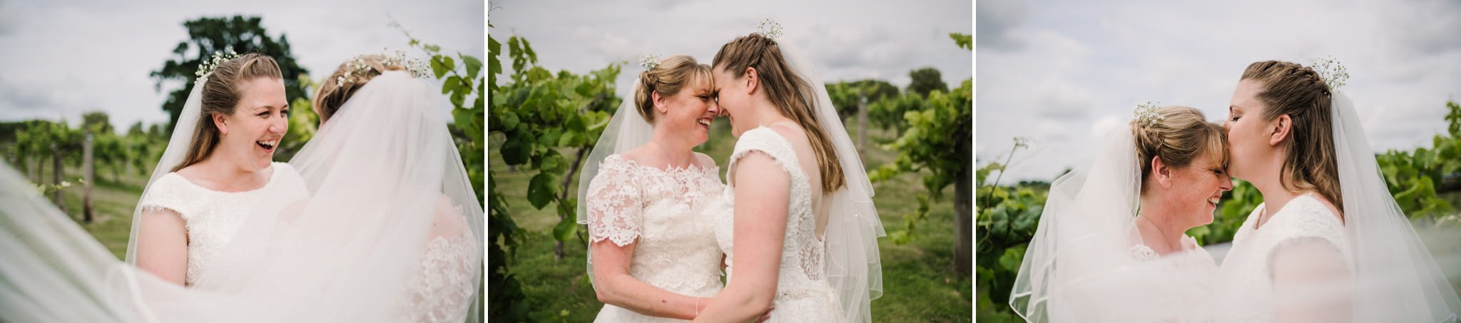 Gay brides at Three Choirs Vineyard wedding