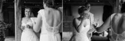 Emotional speeches at Three Choirs Vineyard wedding