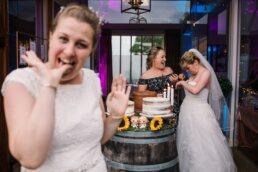 Alternative wedding photography at Three Choirs Vineyard wedding