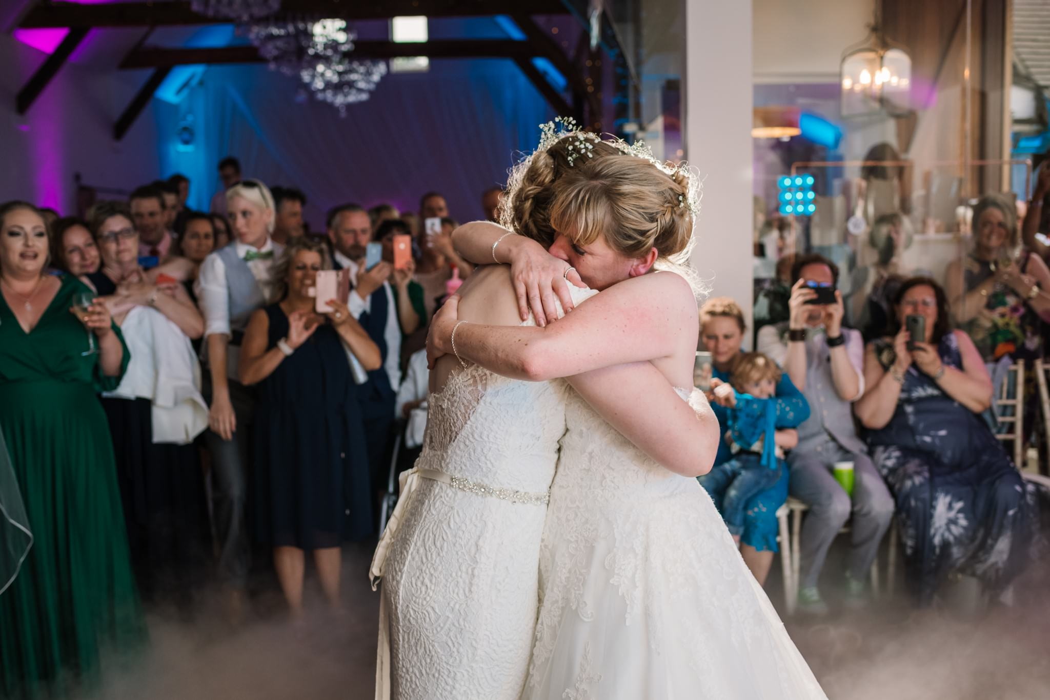 Photos of the first dance at Three Choirs Vineyard wedding