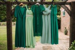 Bridesmaid dresses at at Three Choirs Vineyard wedding