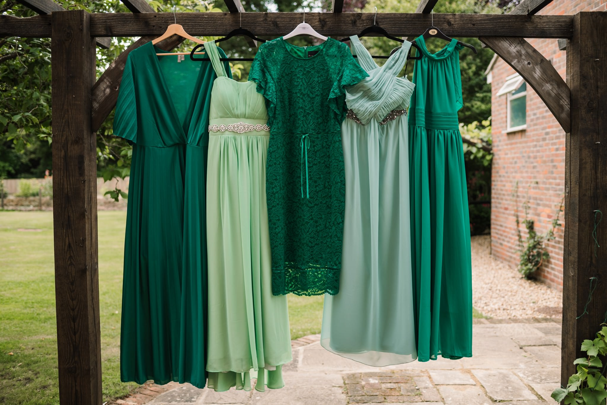 Bridesmaid dresses at at Three Choirs Vineyard wedding