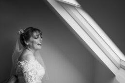 Gay bride at Three Choirs Vineyard wedding day