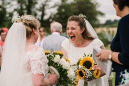 Gay brides at Three Choirs Vineyard wedding in Hampshire