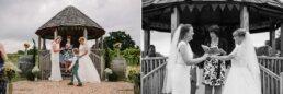 Outdoor wedding ceremony at Three Choirs Vineyard wedding
