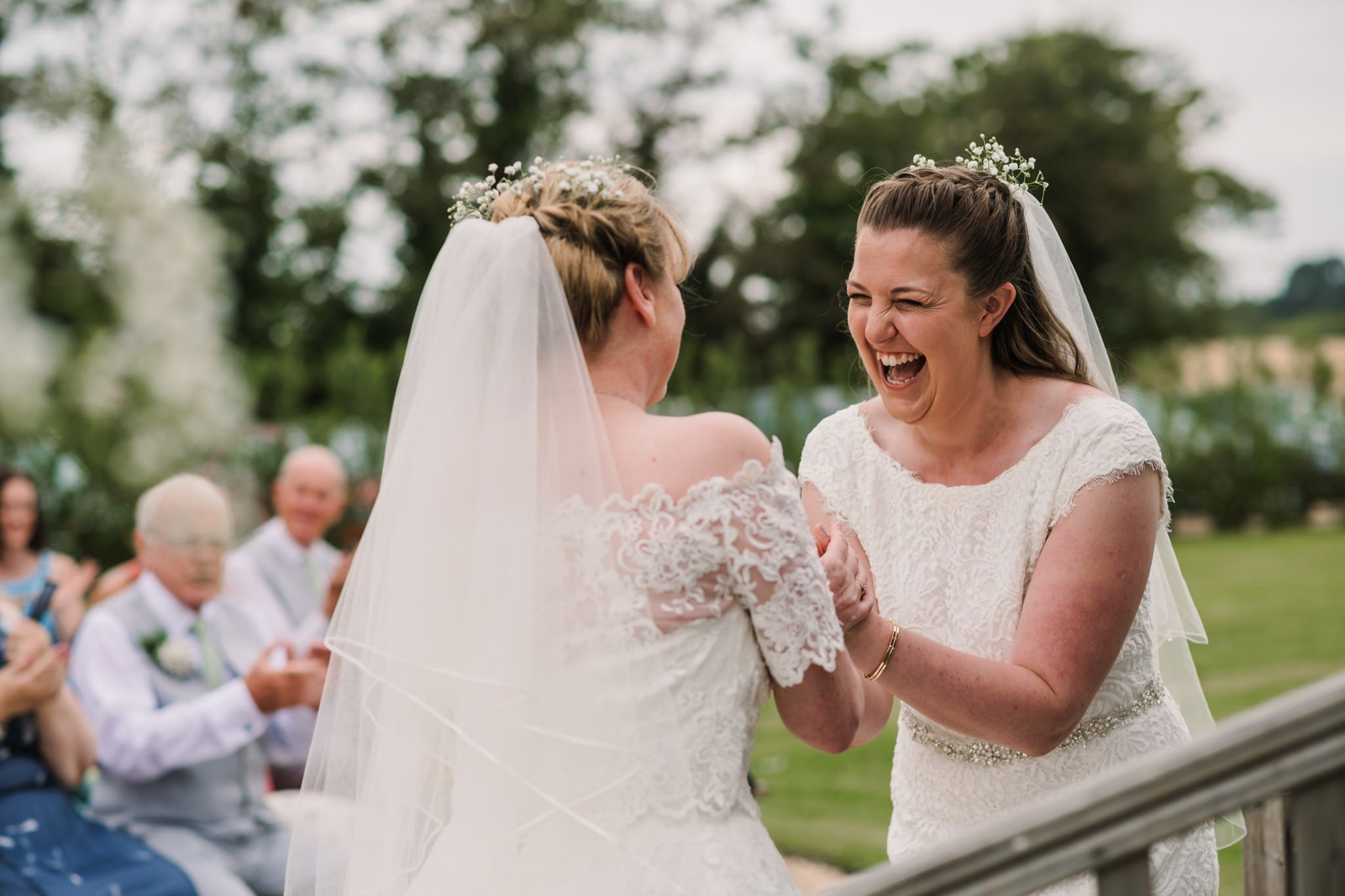 Fun photography at Three Choirs Vineyard wedding