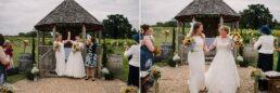 Outdoor wedding ceremony at Three Choirs Vineyard Wickham