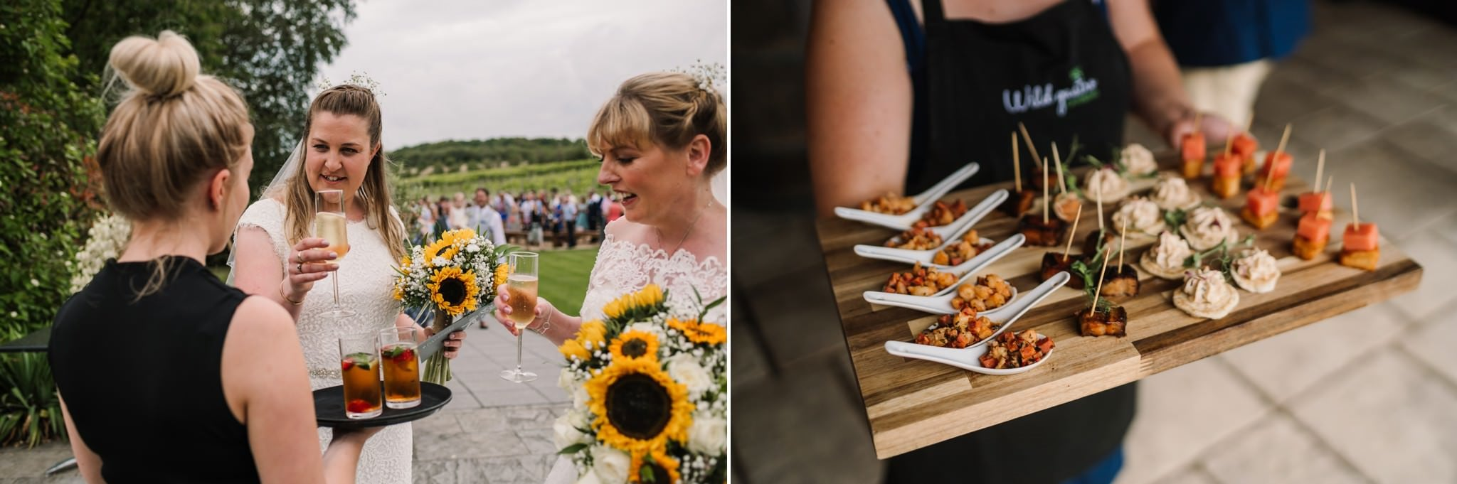 Wild Gastro at Three Choirs Vineyard wedding