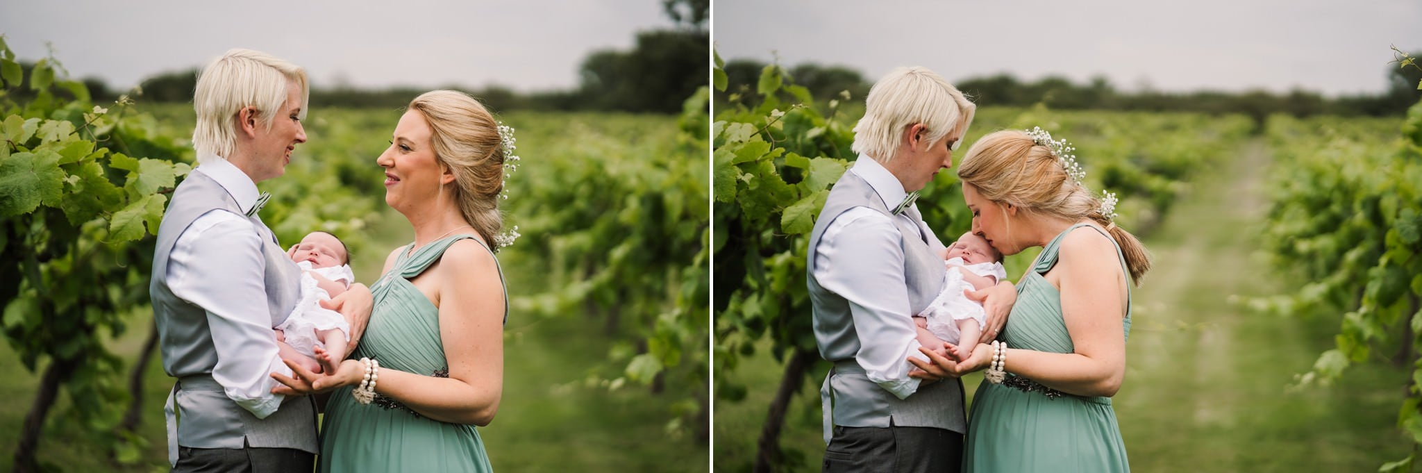 Same sex parents at Three Choirs Vineyard wedding