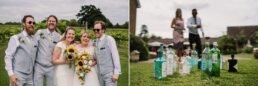 Gin themed games at Three Choirs Vineyard wedding