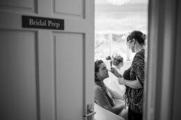 Bridal prep photos at Three Choirs Vineyard wedding