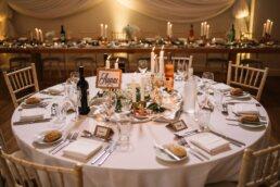 Table set up at Three Choirs Vineyard wedding