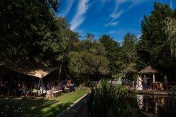 Outdoor summer wedding at Gordleton Mill Wedding