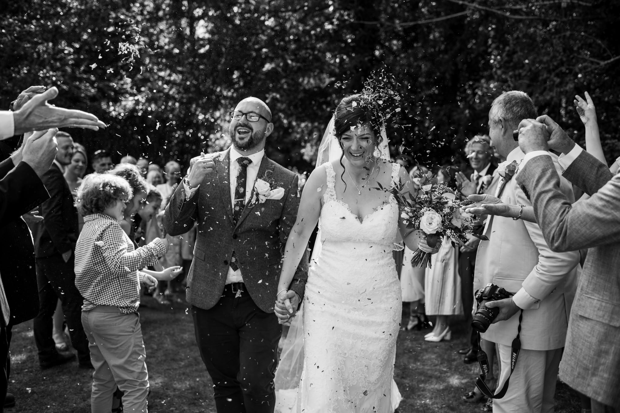 Confetti at Gordleton Mill Wedding