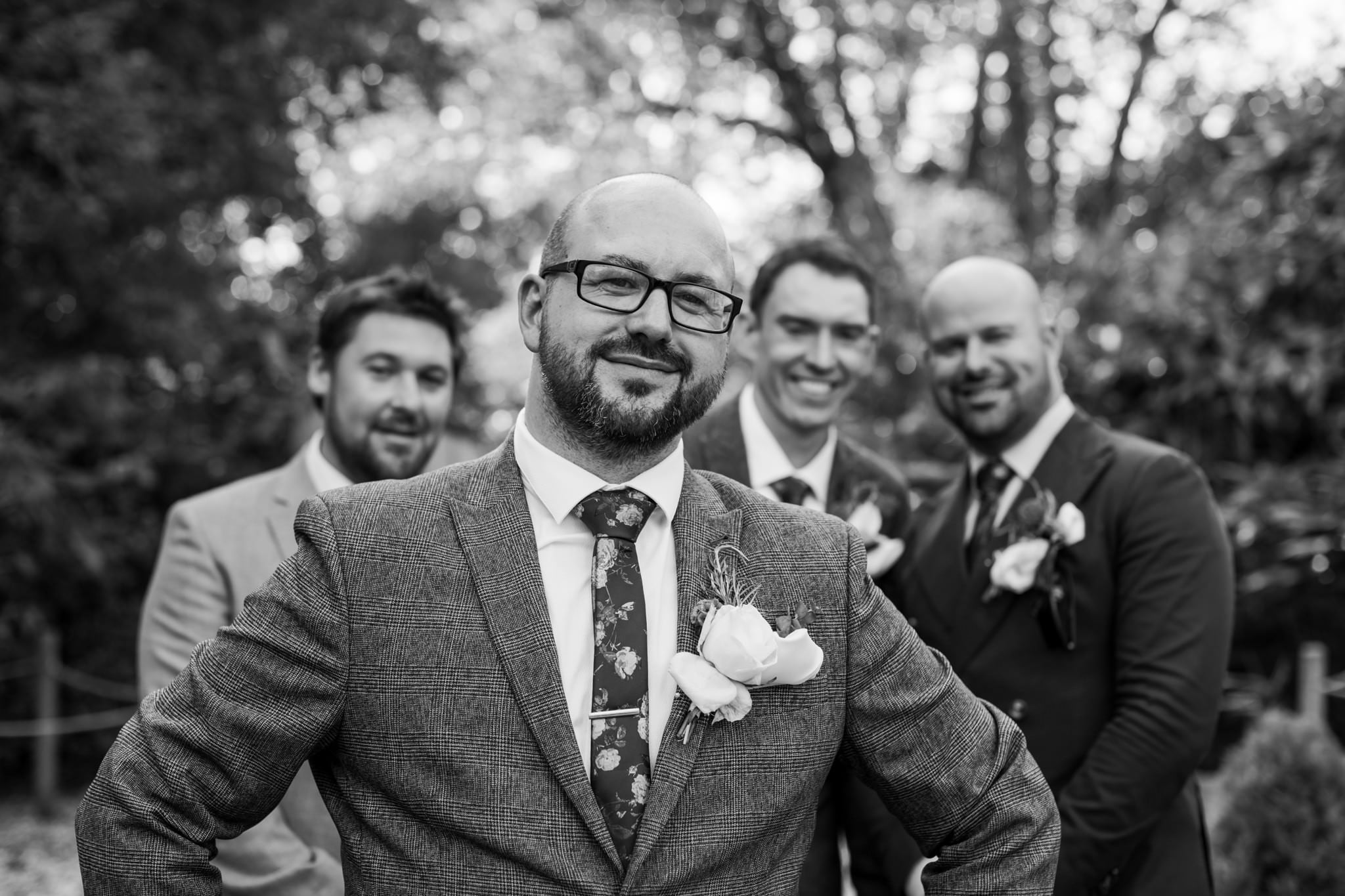 Photo of groomsmen at Gordleton Mill Wedding