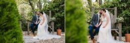 Photos of bride and groom at Gordleton Mill Wedding
