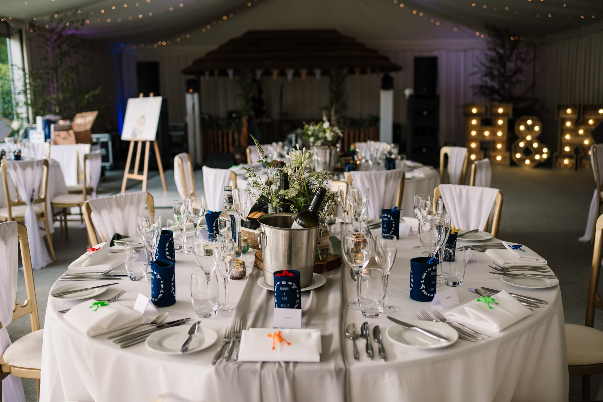 Decor at Gordleton Mill Wedding