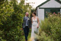 Golden hour photos at Gordleton Mill Wedding