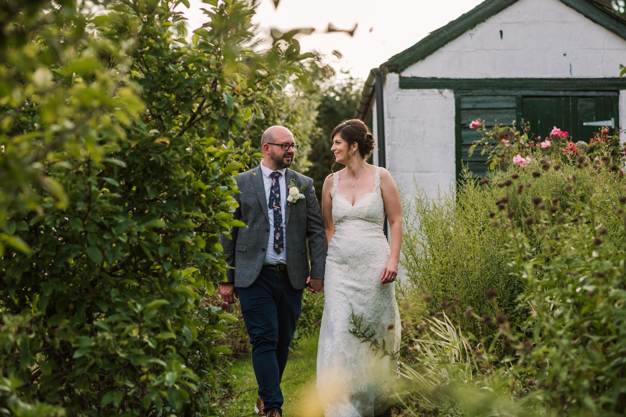 Golden hour photos at Gordleton Mill Wedding