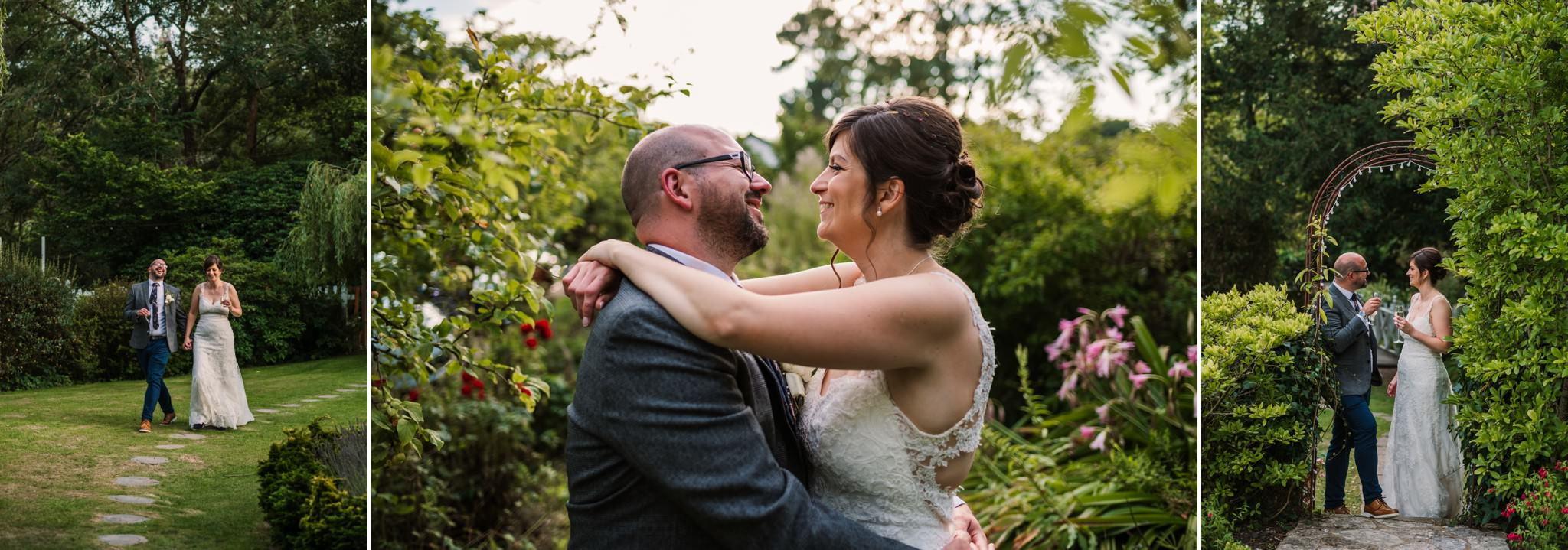 Relaxed golden hour photos at Gordleton Mill Wedding