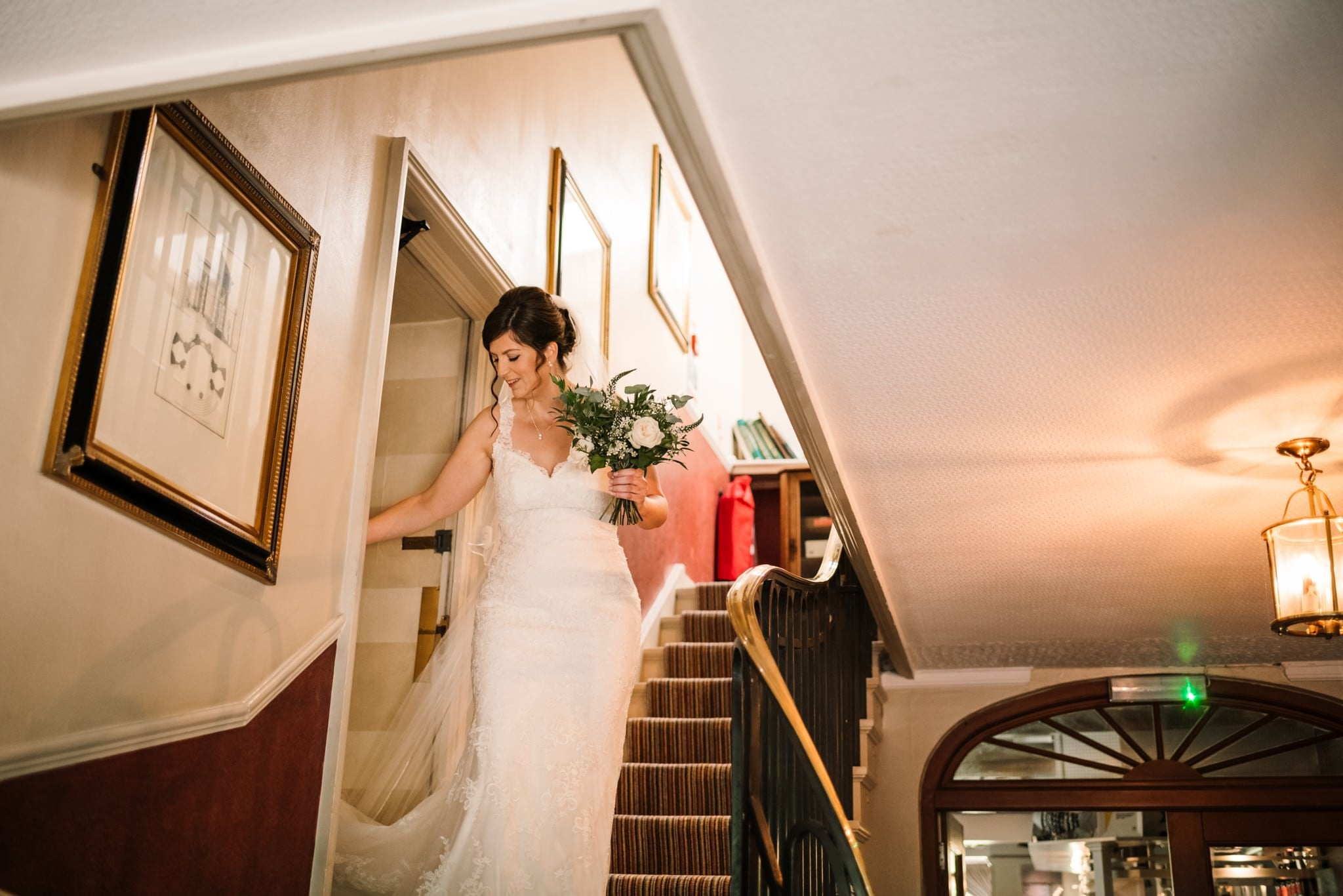 Bridal arrival at Gordleton Mill Wedding