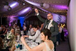 Grooms speech photo at Gordleton Mill Wedding Photography