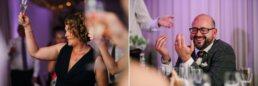 Photography of funny speeches at Gordleton Mill Wedding