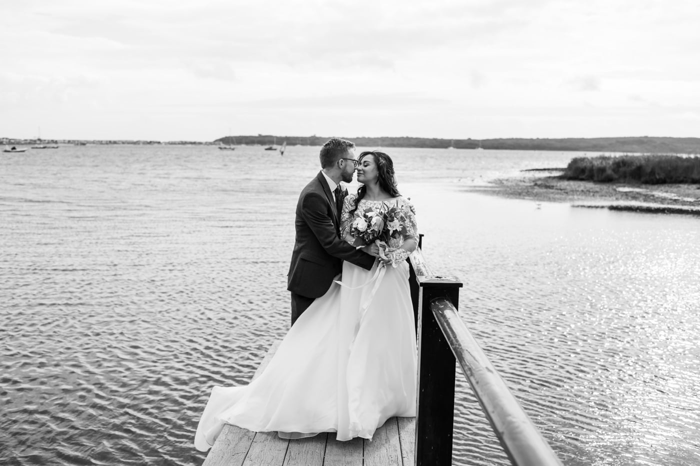 Hampshire wedding photographer at Christchurch Harbour Hotel