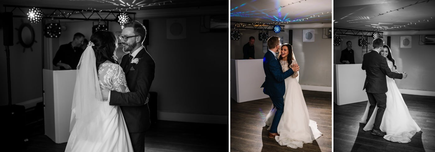 First dance photography at Christchurch Harbour Hotel