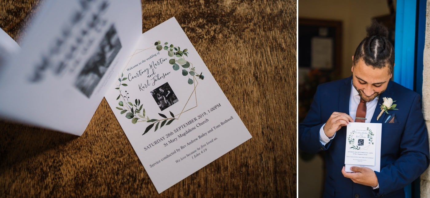 Wedding invites DIY Greenery Dorset