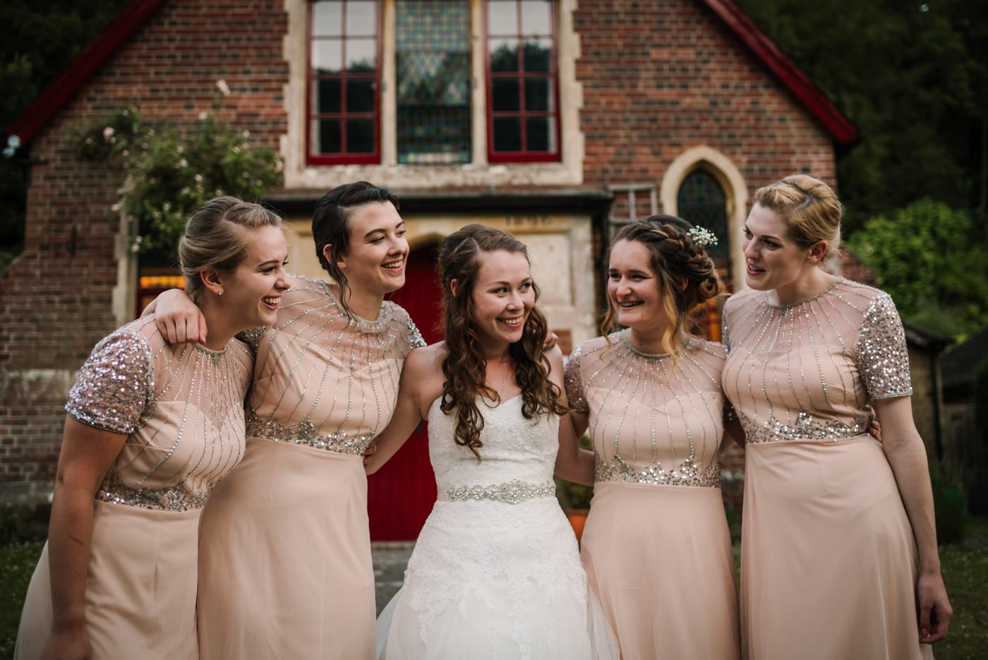 Photo of Dorset bride and her bridesmaids