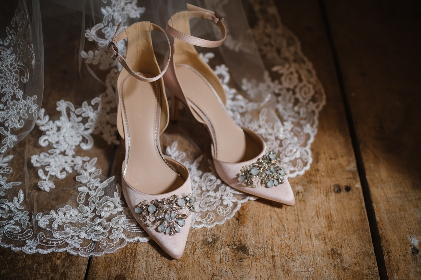 Photograph of Monsoon Pink Wedding Shoes