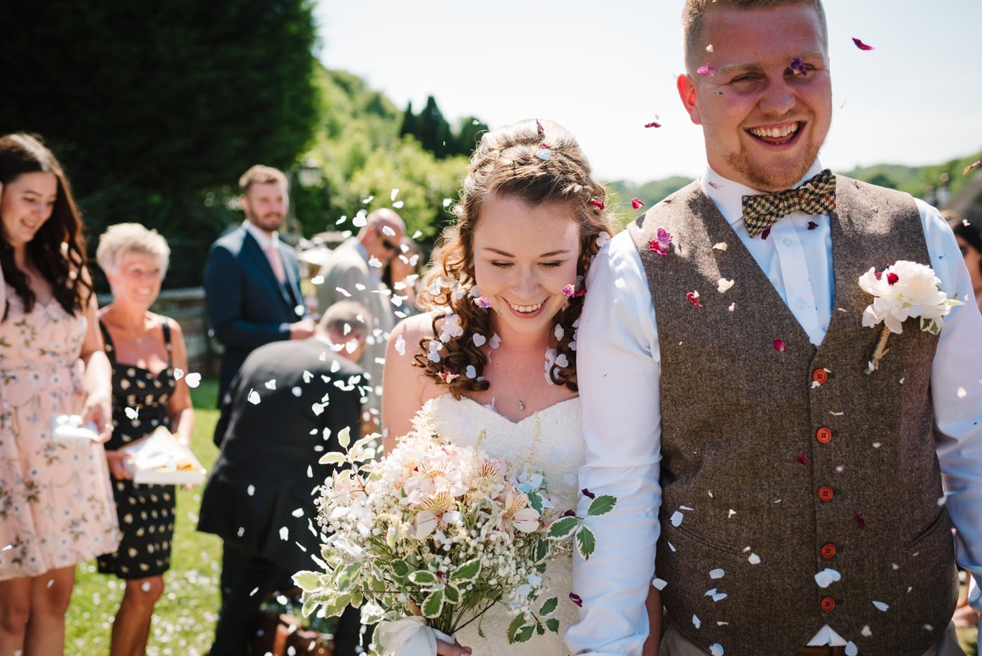 Confetti Photo by Milton Abbas Wedding Photographer