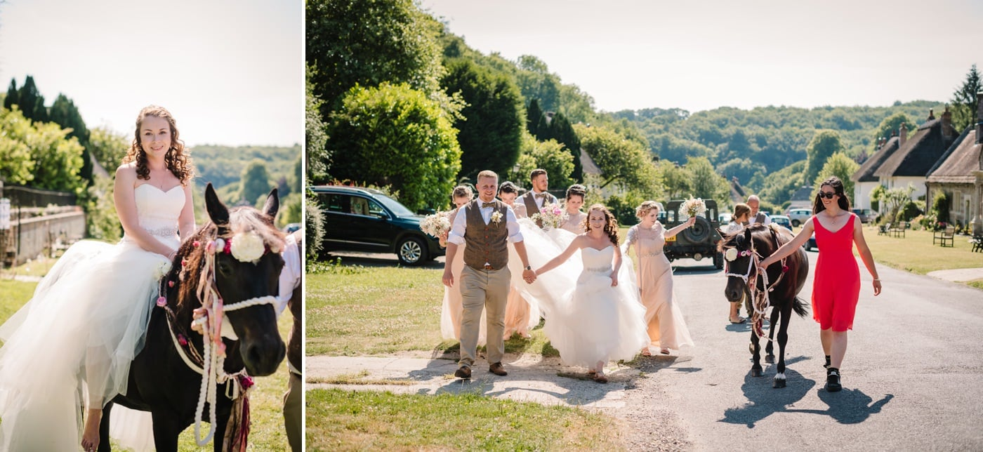 Relaxed wedding photos by Milton Abbas Wedding Photographer